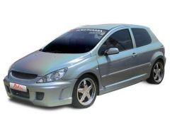 Juedo de extensiones de aletas delanteras Peugeot 307 kit Chymer