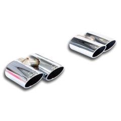 Kit 4 Colas de Escape Oval (Iz + Der) 100x75 AUDI A3 8VA Sportback 2.0 TDI (110-150-184 Cv) 2012 -