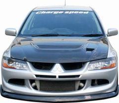 Capo Delantero en Carbono + Entrada aire Chargespeed para Mitsubishi Lancer EVO IX