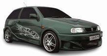 Taloneras faldones laterales Carzone para Seat Ibiza 6K 3drs 96-99 Samurai