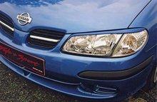 Pestañas faros delanteros para Nissan Almera 4/00