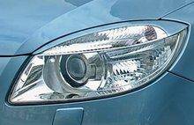 Pestañas focos delanteros Skoda Fabia II 07- (ABS)