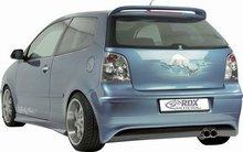 Spoiler parachoques trasero para VW Polo 9N2 01-09 (ABS)