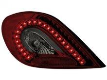 Faros traseros Dectane de LEDs para Peugeot 207 rojos ahumados