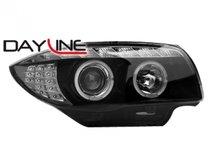 Faros delanteros Dayline Luz diurna de LEDs BMW Serie 1 E87 04-09 negros