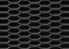 Rejilla ABS negra Hexagonal panel de abeja cerrada 125x25cm