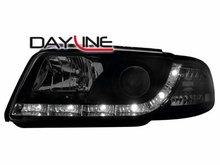 Faros delanteros luz diurna DAYLINE para AUDI A4 B5 negros
