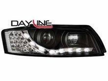 Faros delanteros luz diurna DAYLINE para AUDI A4 8E 01-04 negro