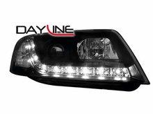 Faros delanteros luz diurna DAYLINE para AUDI A6 4B 97-01 negro