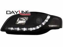 Faros delanteros luz diurna DAYLINE para AUDI A4 B7 04-08 negro