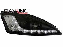 Faros delanteros luz diurna DAYLINE para Ford Focus 98-01 negro