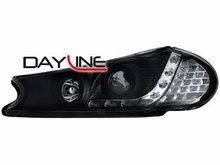Faros delanteros luz diurna DAYLINE para Ford Mondeo 96-00 negr
