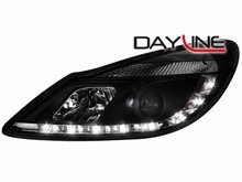 Faros delanteros luz diurna DAYLINE para Opel Corsa D 06+ negro