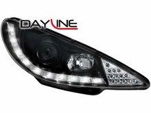 Faros delanteros luz diurna DAYLINE para Peugeot 206 02-06 negr