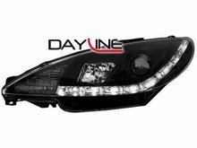Faros delanteros luz diurna DAYLINE para Peugeot 206 99-07 negr
