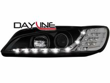 Faros delanteros luz diurna DAYLINE para Peugeot 306 97-00 negr