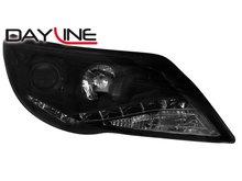 Faros delanteros Dayline Luz diurna de LEDs VW Tiguan 07-11 Negros